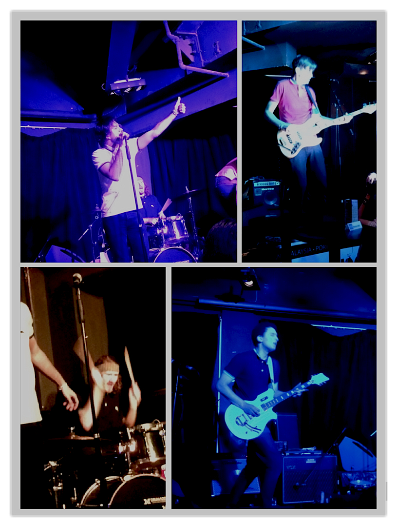 Collage of the band's performance at the Beer Market. 23rd May