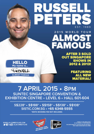 Russell Peters 2015 Singapore EDM