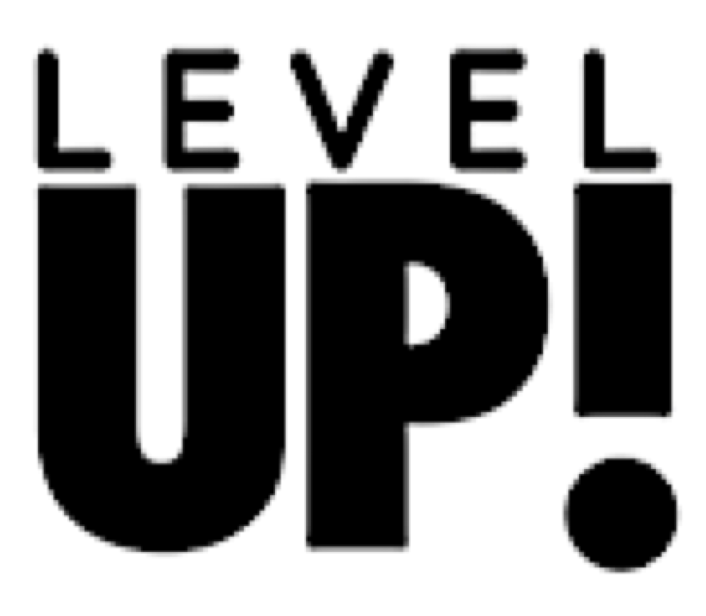 level up logo � power of pop