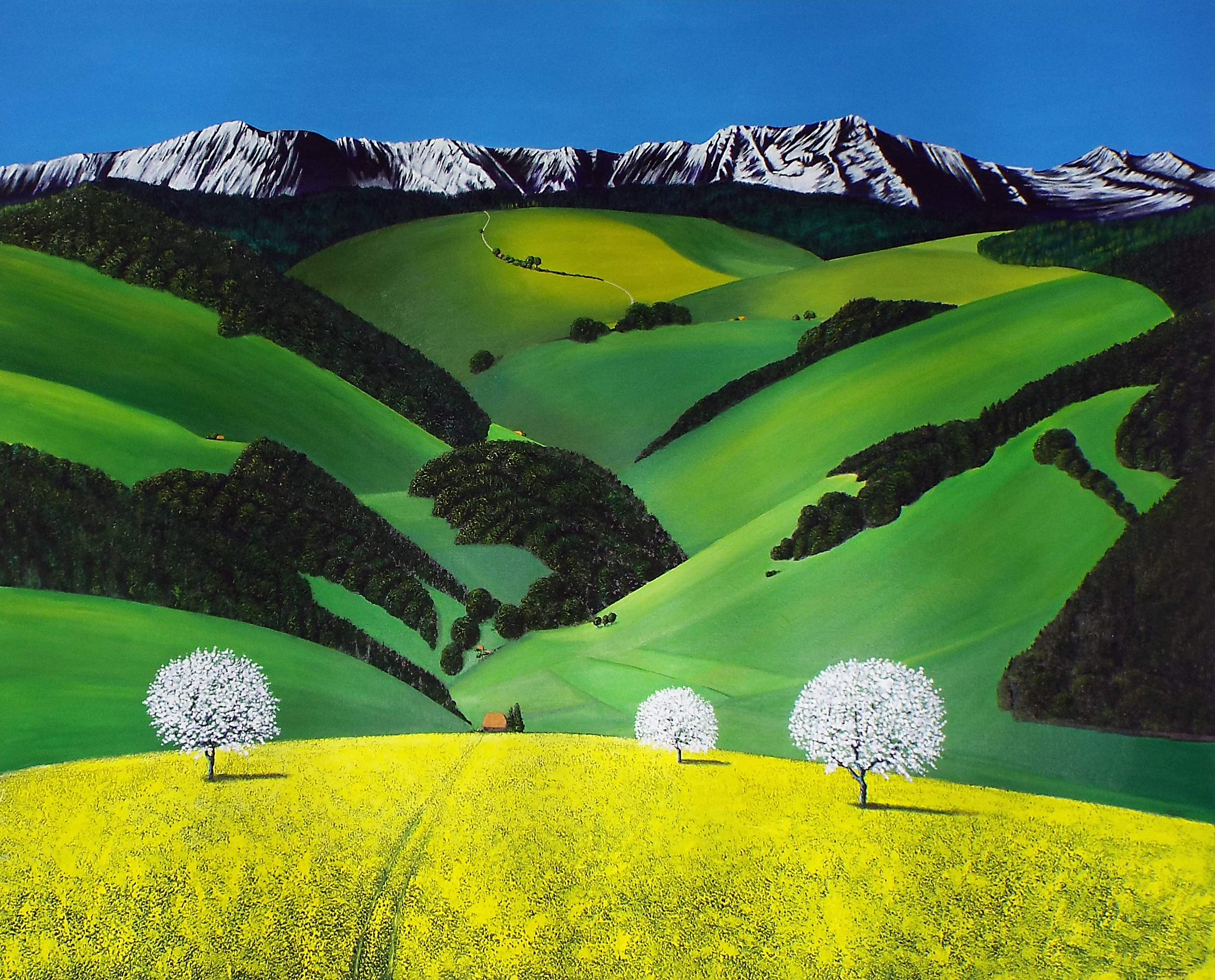 In Winding Valleys too Tortuous to Trace 120 x150cm