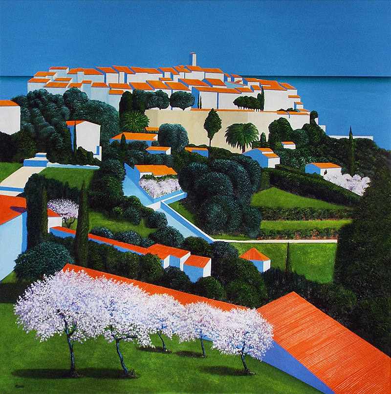 Printemps Saint Paul de Vence 120 x 120cm
