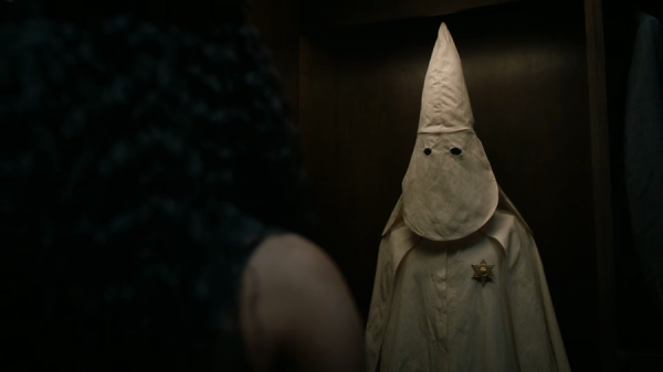 Watchmen Episode Two - Angela discovers a KKK costume in Judd's closet.